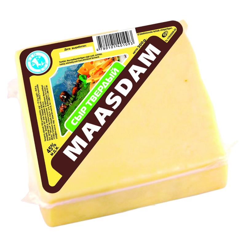 """Сыр сычужный твердый """"Маасдам"""""""